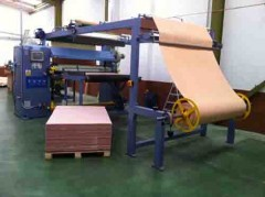 Flame laminating machine for sheets